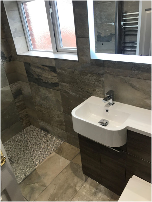 Bathroom with Built in Sink Unit
